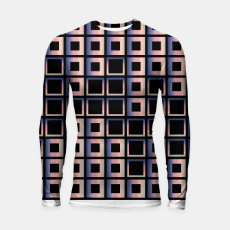 Imagen en miniatura de Square composition on black background Longsleeve rashguard , Live Heroes