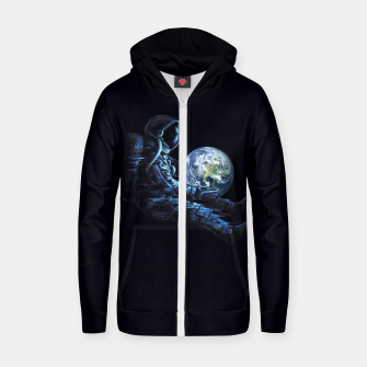 Thumbnail image of Earth Play Cotton zip up hoodie, Live Heroes
