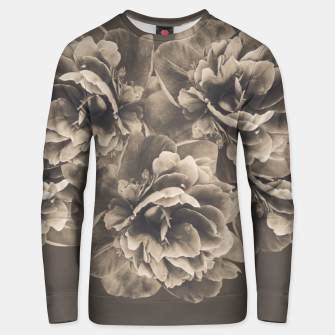 Sepia Peony Flower Bouquet #1 #floral #decor #art Baumwoll sweatshirt thumbnail image
