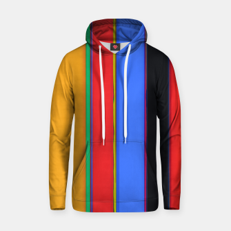 Thumbnail image of Bright stripes Cotton hoodie, Live Heroes