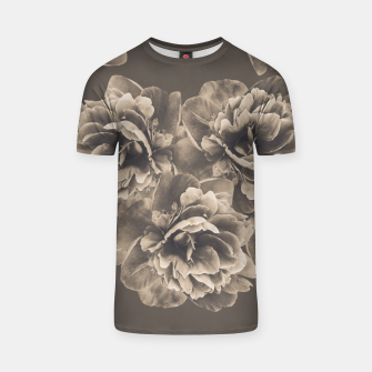 Sepia Peony Flower Bouquet #1 #floral #decor #art T-Shirt thumbnail image