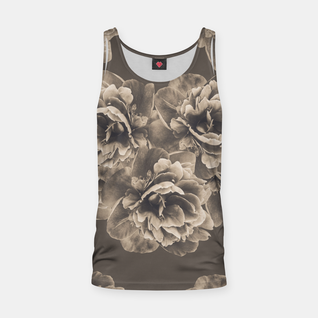 Image of Sepia Peony Flower Bouquet #1 #floral #decor #art Muskelshirt  - Live Heroes