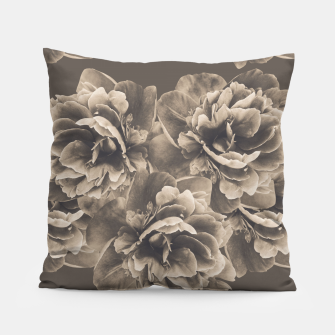 Sepia Peony Flower Bouquet #1 #floral #decor #art Kissen thumbnail image