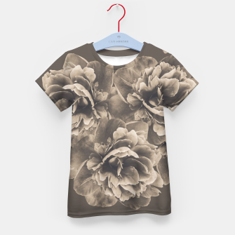 Sepia Peony Flower Bouquet #1 #floral #decor #art T-Shirt für kinder thumbnail image