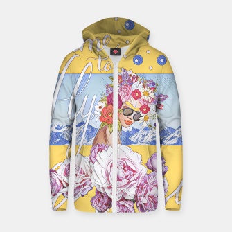 Thumbnail image of Time to fly Cotton zip up hoodie, Live Heroes