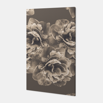 Sepia Peony Flower Bouquet #1 #floral #decor #art Canvas thumbnail image