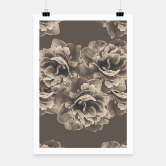 Sepia Peony Flower Bouquet #1 #floral #decor #art Plakat thumbnail image