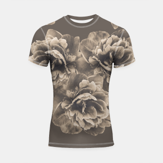 Sepia Peony Flower Bouquet #1 #floral #decor #art Shortsleeve rashguard thumbnail image