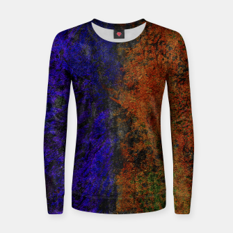 Miniature de image de Colored Rusty Abstract Grunge Texture Print Woman cotton sweater, Live Heroes
