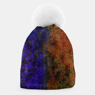 Miniature de image de Colored Rusty Abstract Grunge Texture Print Beanie, Live Heroes