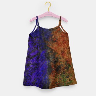 Miniaturka Colored Rusty Abstract Grunge Texture Print Girl's dress, Live Heroes