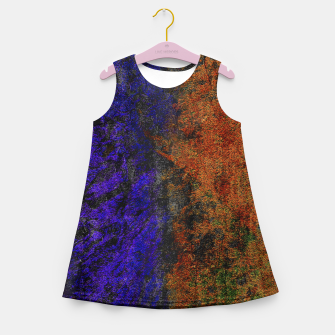 Miniaturka Colored Rusty Abstract Grunge Texture Print Girl's summer dress, Live Heroes