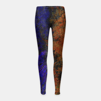 Miniaturka Colored Rusty Abstract Grunge Texture Print Girl's leggings, Live Heroes