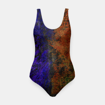 Miniaturka Colored Rusty Abstract Grunge Texture Print Swimsuit, Live Heroes