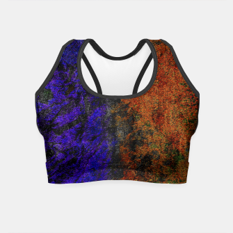 Miniaturka Colored Rusty Abstract Grunge Texture Print Crop Top, Live Heroes