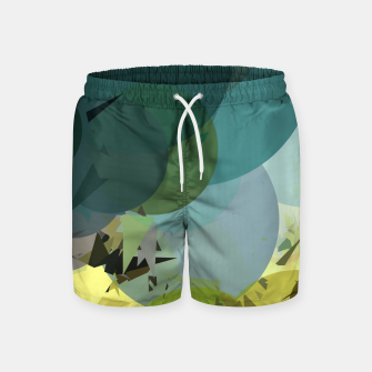 Miniature de image de geometric circle and triangle pattern abstract in blue and yellow Swim Shorts, Live Heroes
