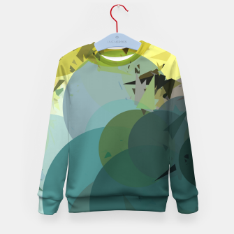 Miniature de image de geometric circle and triangle pattern abstract in blue and yellow Kid's sweater, Live Heroes