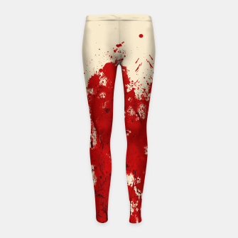 Thumbnail image of Blood Red Kids Legging, Live Heroes