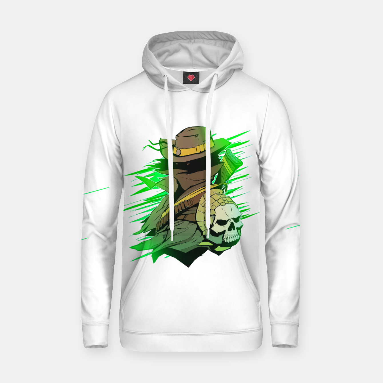 Image of greenhunter Cotton hoodie - Live Heroes