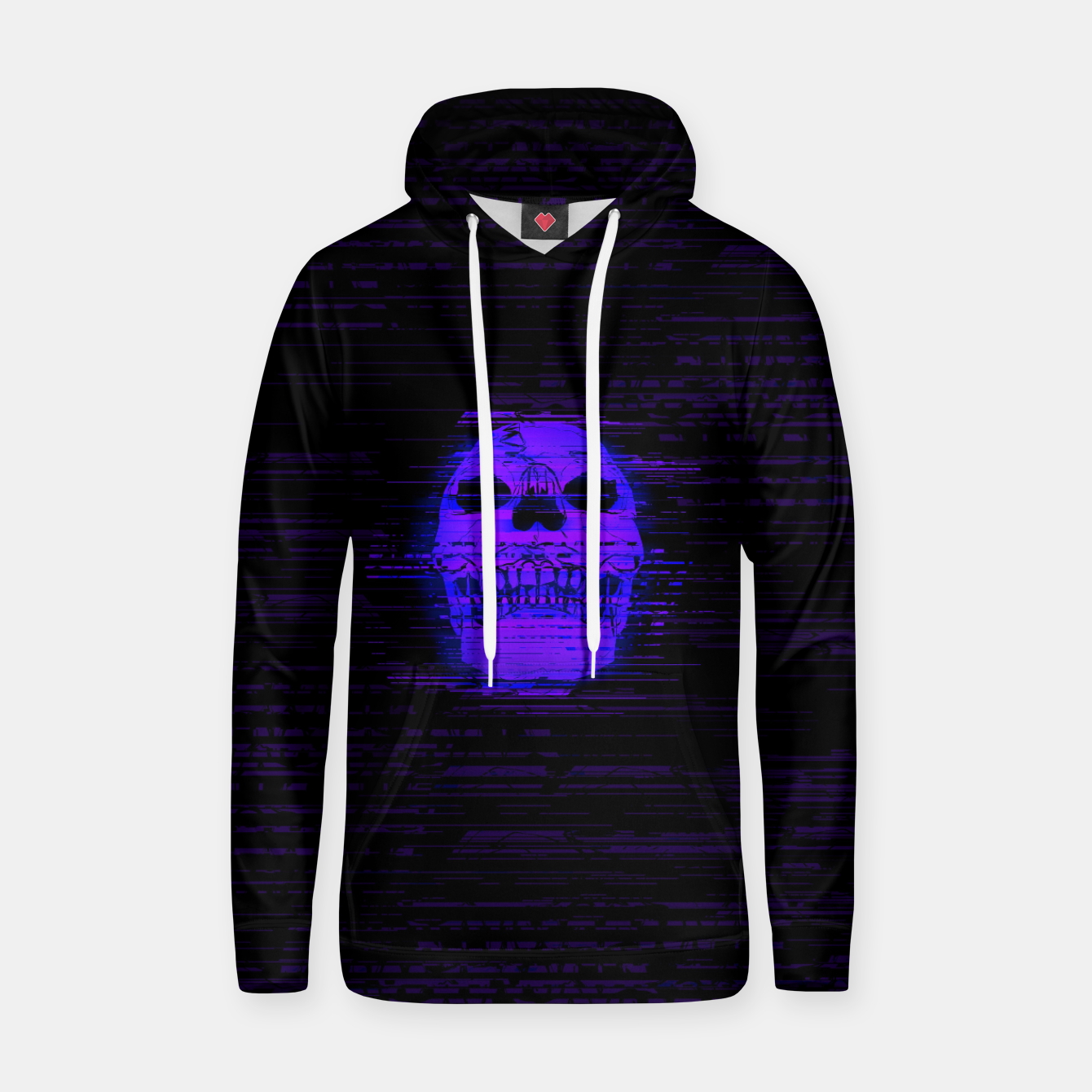 Image of glitchworld_xtreme Cotton hoodie - Live Heroes
