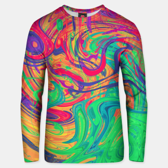 Abstract Multicolored Waves  Cotton sweater miniature