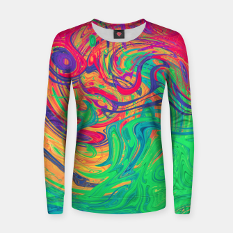 Abstract Multicolored Waves  Woman cotton sweater miniature