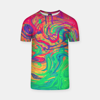 Abstract Multicolored Waves  T-shirt miniature