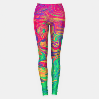 Miniaturka Abstract Multicolored Waves  Leggings, Live Heroes