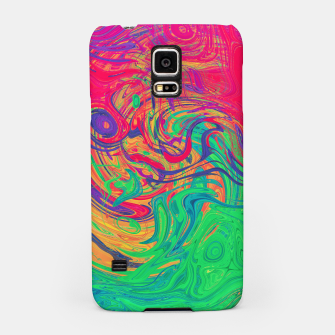 Abstract Multicolored Waves  Samsung Case miniature