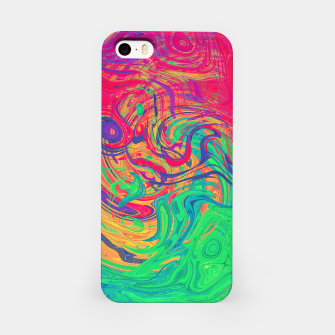 Abstract Multicolored Waves  iPhone Case miniature