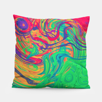 Abstract Multicolored Waves  Pillow miniature