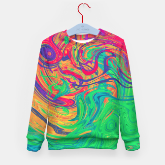 Abstract Multicolored Waves  Kid's sweater miniature