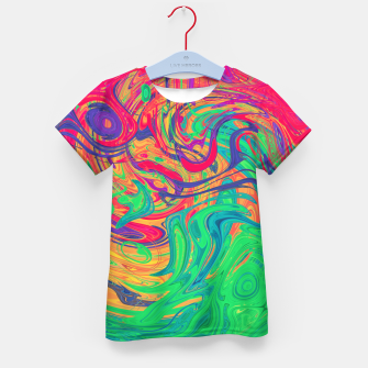 Abstract Multicolored Waves  Kid's t-shirt miniature