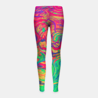 Abstract Multicolored Waves  Girl's leggings miniature