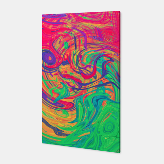 Abstract Multicolored Waves  Canvas miniature