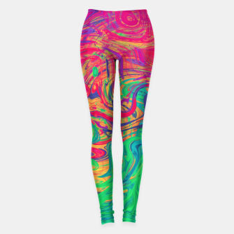 Abstract Multicolored Waves  Leggings miniature