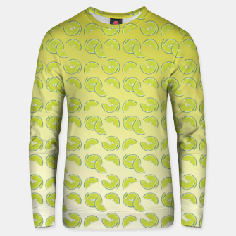 lime pattern Cotton sweater Bild der Miniatur
