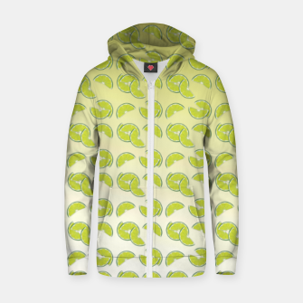 lime pattern Cotton zip up hoodie Bild der Miniatur