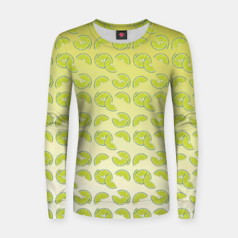 lime pattern Woman cotton sweater Bild der Miniatur