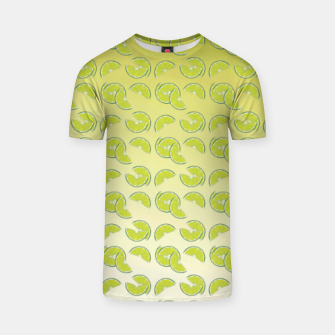 Miniatur lime pattern T-shirt, Live Heroes