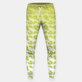 lime pattern Cotton sweatpants Bild der Miniatur