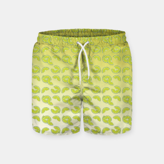 lime pattern Swim Shorts Bild der Miniatur