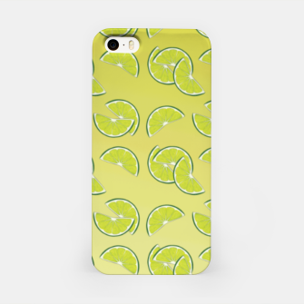 lime pattern iPhone Case Bild der Miniatur