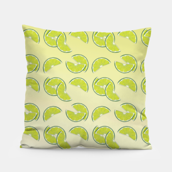 lime pattern Pillow Bild der Miniatur