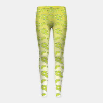 lime pattern Girl's leggings Bild der Miniatur