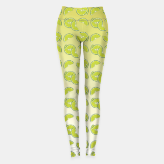 lime pattern Leggings Bild der Miniatur