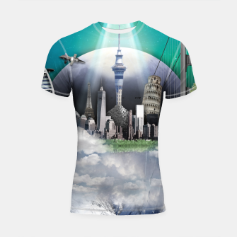 Thumbnail image of TOMORROW WORLD Shortsleeve rashguard, Live Heroes