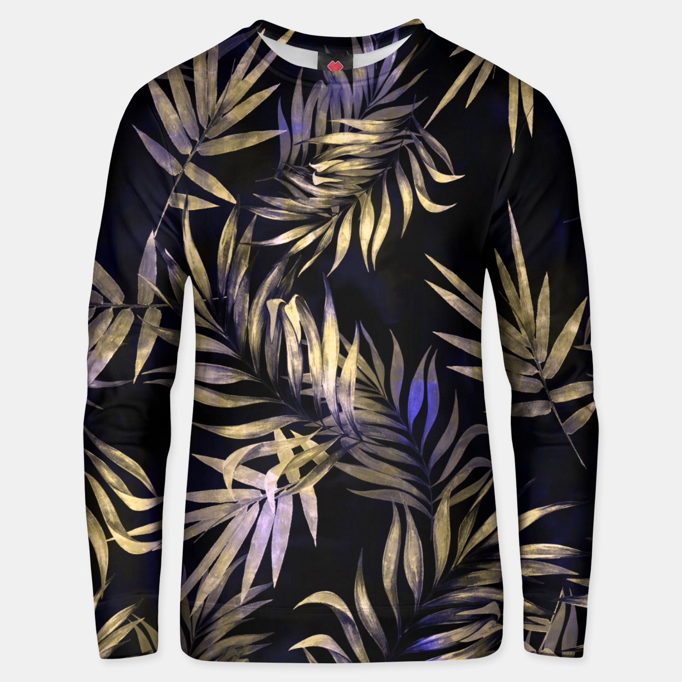 Foto Golden Tropics Leaf Cotton sweater - Live Heroes