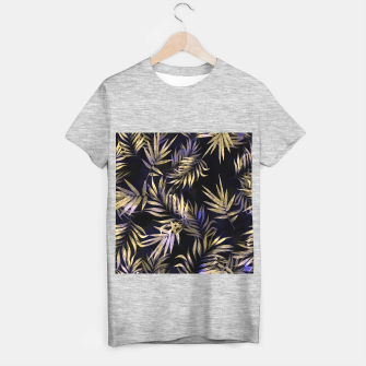 Golden Tropics Leaf T-shirt regular Bild der Miniatur