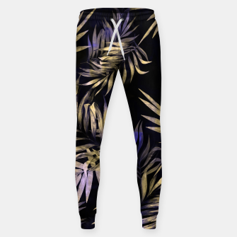 Golden Tropics Leaf Cotton sweatpants Bild der Miniatur